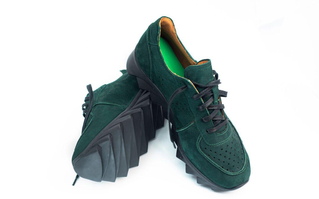 buty ortopedyczne damskie w kolorze ciemnozielonym